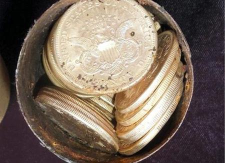 Найден клад золотых монет