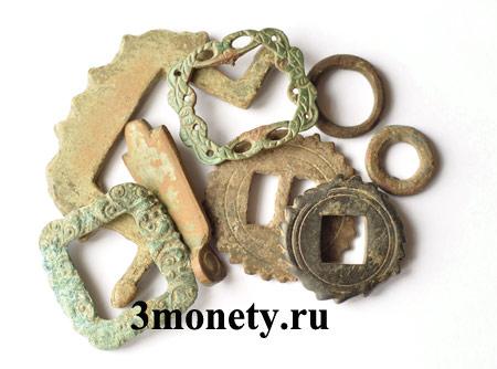 Фото предметов, найденных с металлоискателем