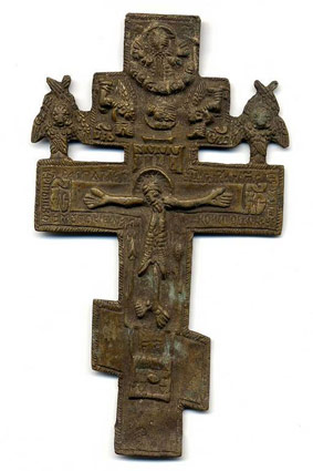 Старинный киотный крест (фото)