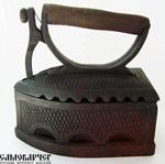 Антикварный угольный утюг (фото и цена)