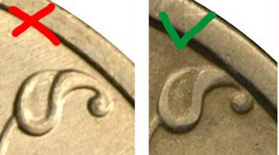 1 рубль 1997 года: кант монеты