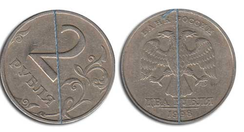 редкая монета с браком