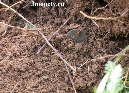 Коп старинных монет (фото найденных монет)
