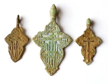 Старинные нательные крестики - листики